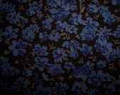 Rich Blue Lobelia on a Striking Black Background