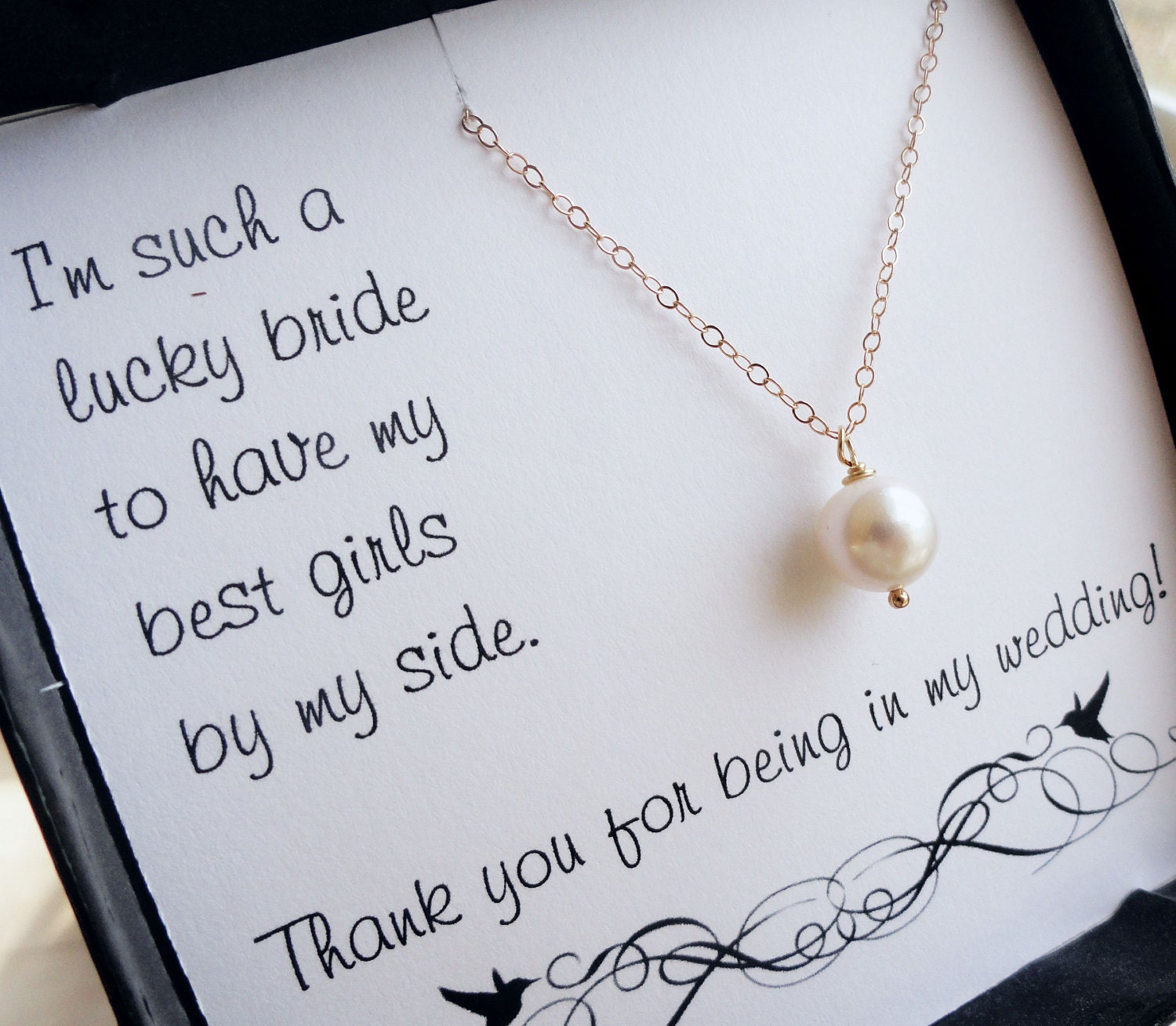 Thank You Gifts At Weddings: Bridesmaid Thank You Cards Thank You For Being In By