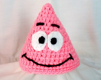 Patrick Star Handmade Crochet Hat Beanie newborn to 10 years
