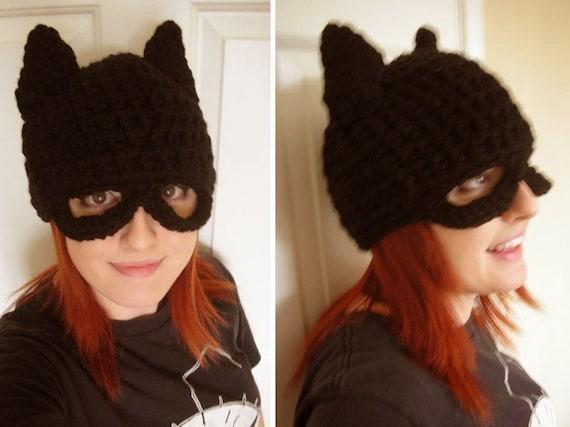 BATMAN  handmade crochet Hat---TeeN TO Adult--- Please read shop Announcement Before BUYFrom nmelone13