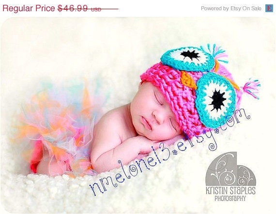OWL  set  Estefania    Hat   and  tutu diaper cover Newborn  to 24 months   Read Shop Announcement for Turn around time