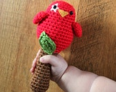 Crochet Pattern - Baby Birdy Rattle Toy