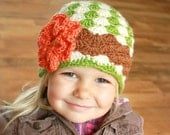Instant Download - Crochet Hat Pattern - Angela Hat with Flower (Newborn to Adult)