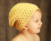 Instant Download - Crochet Pattern - Sammy Slouch Hat (Baby to Adult)