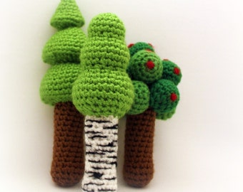 Instant Download - Crochet Pattern - Three Tree Rattles
