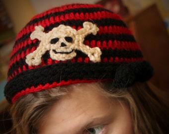 Instant Download - Crochet Pattern - Chris's Skull Cap  (Newborn to Adult)
