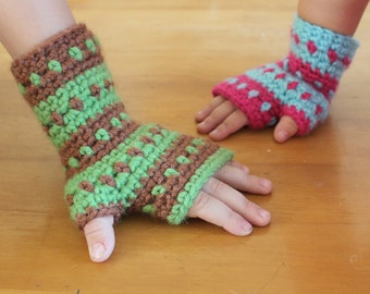 Instant Download - Crochet Pattern - AK Handwarmers (Sizes Toddler to Adult Male)