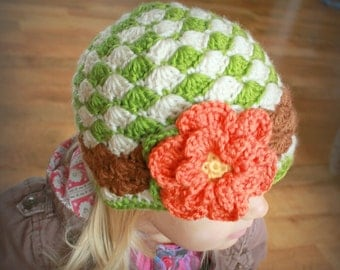 Instant Download - Crochet Hat Pattern - Angela Hat (Sizes Newborn to Adult)