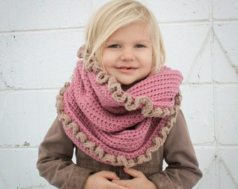 Instant Download - Crochet Pattern - Loopy/Hoody Cowl Scarf (Toddler/Child and Adult Sizes)