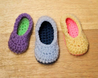 Crochet Pattern - Little Oma Slippers