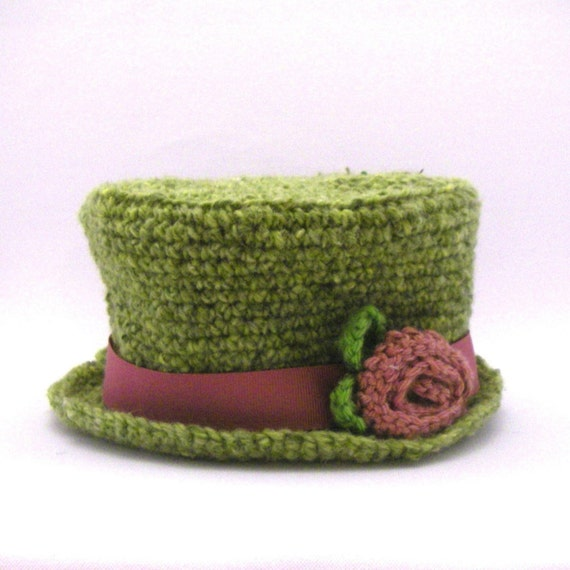 Instant Download - Crochet Pattern - Top Hat (Sizes Newborn to Adult)