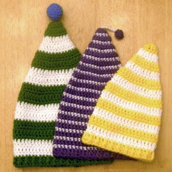 Crochet Newborn Stocking Hat Pattern : Instant Download Crochet Pattern Stocking Cap Newborn to