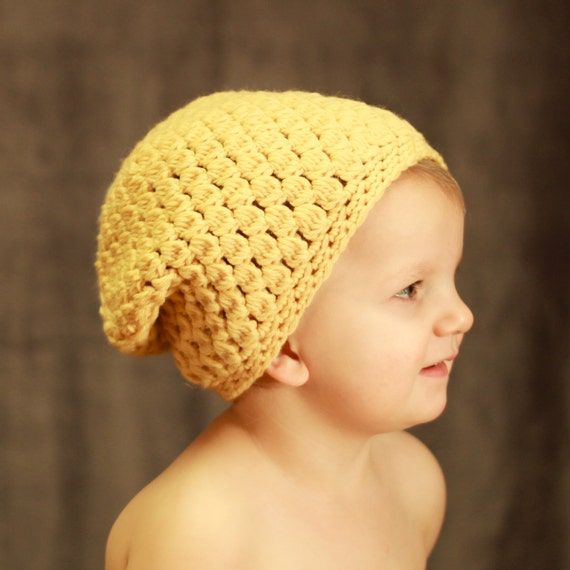 Crochet Slouchy Hat Pattern For Child : Items similar to Instant Download - Crochet Pattern ...