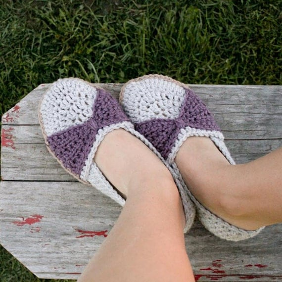 Instant Download - Crochet Pattern - The Jess Flats (woman sizes 3-12)