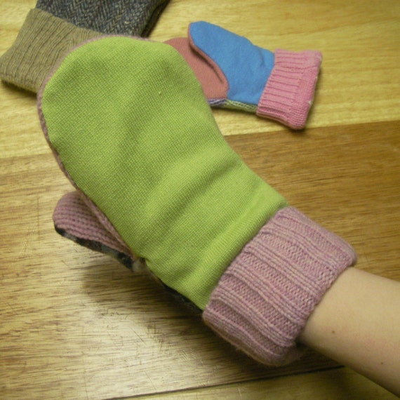 PDF Pattern Easy Recycled Sweater Mittens by Mamachee on Etsy