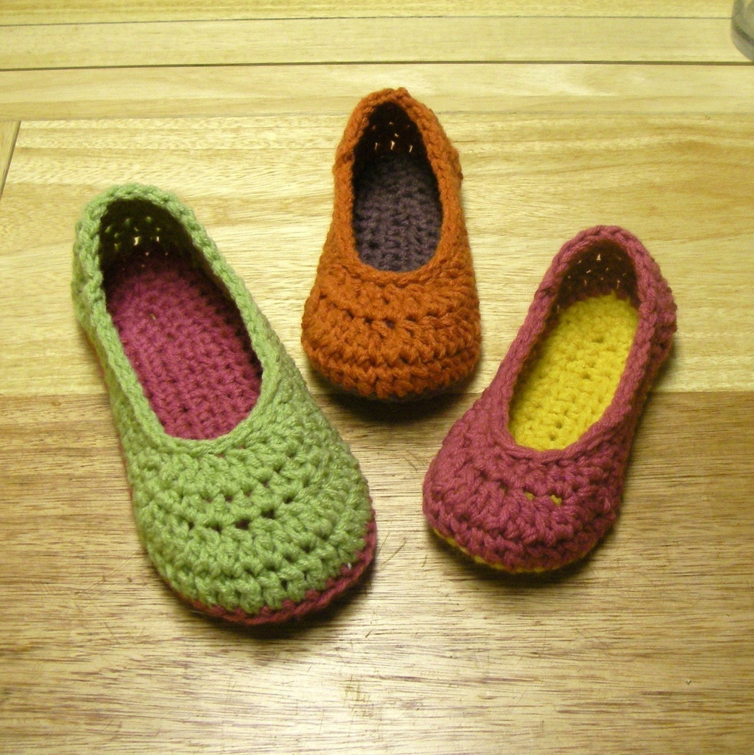 Crochet Pattern Oma House Slippers Adult Woman Sizes