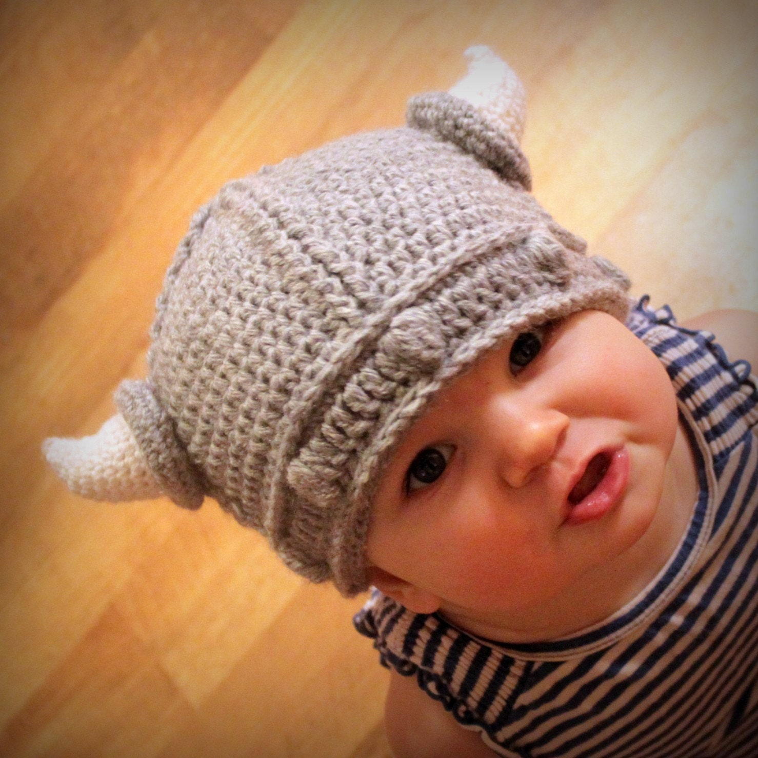 Crocheting Baby Hats : Crochet Pattern Lael Viking Hat All Sizes Etsy