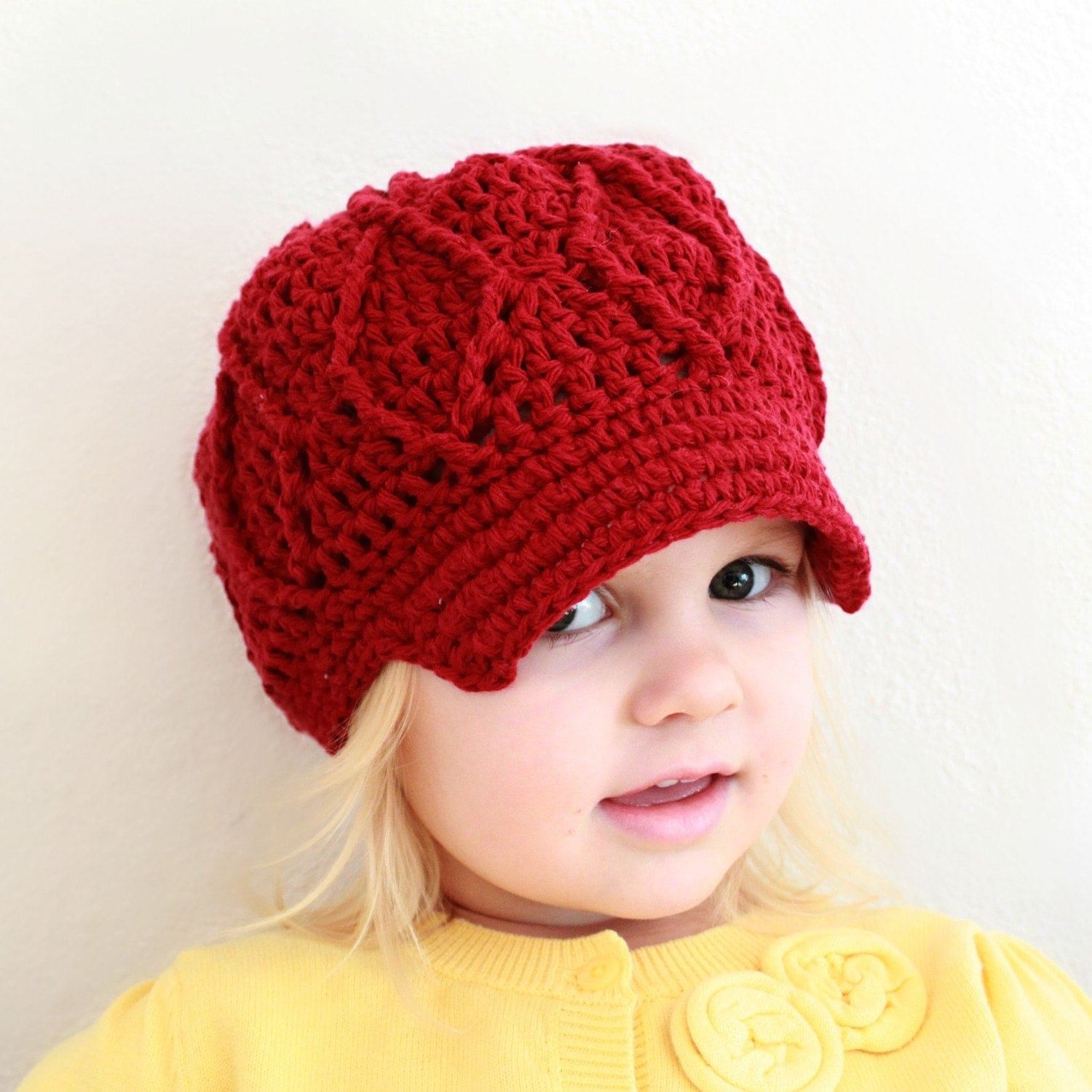 Crochet Patterns Hats For Toddlers : Instant Download Crochet Pattern Maggie Newsboy Hat