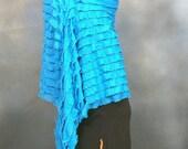 Tattered ruffle Hip wrap Belly Dance ATS Tribal Fusion mini skirt overskirt