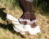 Ruffle Pants Bellydance Tribal Fusion Tribalesque Brown