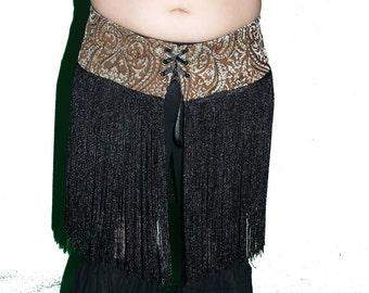 Belly Dance Long Fringe Hip wrap Hip belt Handmade