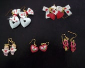 RESERVED FOR MANDY...CUPID HEART EARRINGS