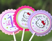 Hello Kitty Cupcake Toppers - Set of 12