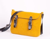 Harris Tweed Yellow Mini Satchel