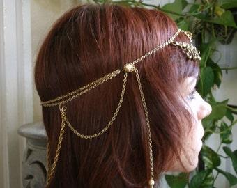 Gypsy Princess Vintage Golden Mucha Head Chain