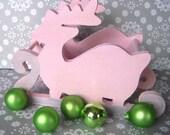 Pink Sparkle Reindeer Sleigh