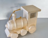 Hand Painted Wooden Train Ornament