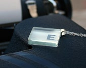 E - Narcissist Necklace - Frosted Glass Initial