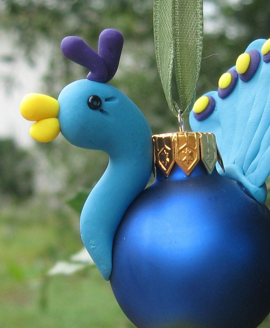 Christmas Tree Ornaments Etsy: Polly Peacock Christmas Tree Ornament By KimberlyCreations