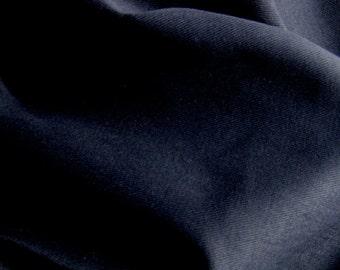 12 oz Brushed COTTON Twill Slipcover Fabric BLACK