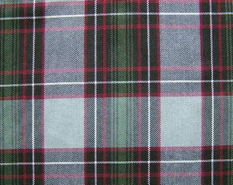 Gray Green Red Black Plaid Fabric UPHOLSTERY Home Decorating CRAFTS