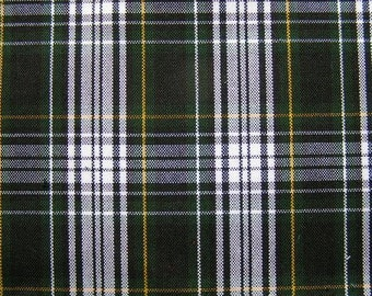 CAMPBELL DRESS Green White Yellow Plaid Fabric Home Decorating Smaller Pattern