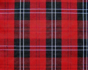 60 Inch Wide Red Black Plaid Upholstery Slipcover Fabric Wedding Banquet Tablecloth