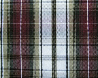 Black Khaki Wine Plaid Upholstery Slipcover Apparel Craft Fabric