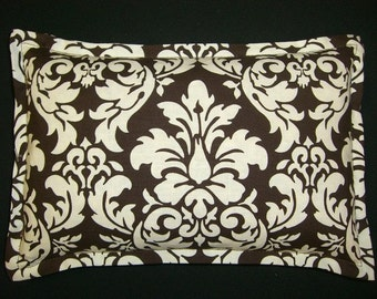 Corn Bags, Microwave Heating Pad, Heat and Cold Packs, Massage Spa Therapy, Relaxation Gift, Back Neck Pain Relief, Brown and White Damask