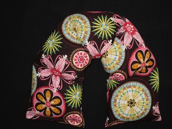 Corn Bag Heating Pad Microwavable  - Carnival Bloom Brown