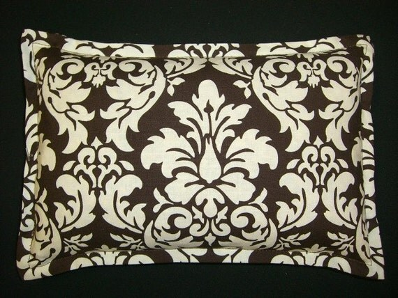 Heat Pack Corn Bag Microwavable -  Brown and White Damask