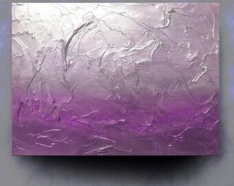"Custom 24"" x 30"" Original contemporary abstract modern fine art palette knife acrylic canvas impasto painting Carol Lee aka Leearte"