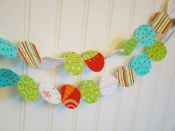 Colorful Christmas Party Fabric Garland-6 ft.