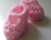 Bubble Gum Pink Ballerina Mary Jane Baby Booties