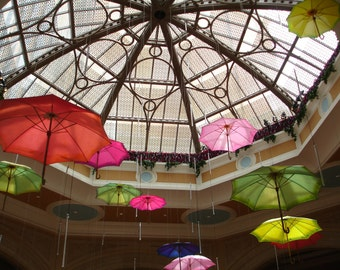 UMBRELLAS Photograph - Colorful Umbrellas -5x7 color photograph - ORNATE SKYLIGHT - More Sizes Available