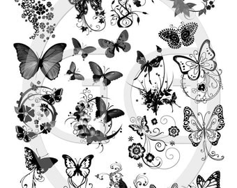 Sepia Decals for Fused Glass - Butterflies