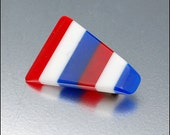Red White Blue Victory Lucite Brooch Vintage 1940s