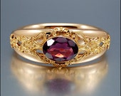 Amethyst Gold Victorian Bangle Bracelet Antique Jewelry