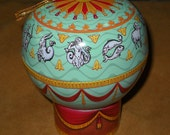 Zodiac Hot Air Balloon Tin Ornament Montgolfier
