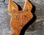 Foxy Brooch - Salvaged Red Cedar - Eco